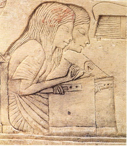 Scribes- Horemheb tomb, 18th dynasty, Saqqara, Egypt