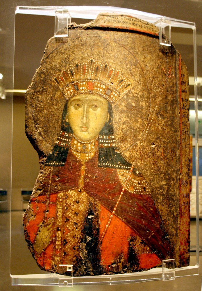1963_-_Byzantine_Museum,_Athens_-_St._Catherine_-_14th_century_-_Photo_by_Giovanni_Dall'Orto,_Nov_12_2009