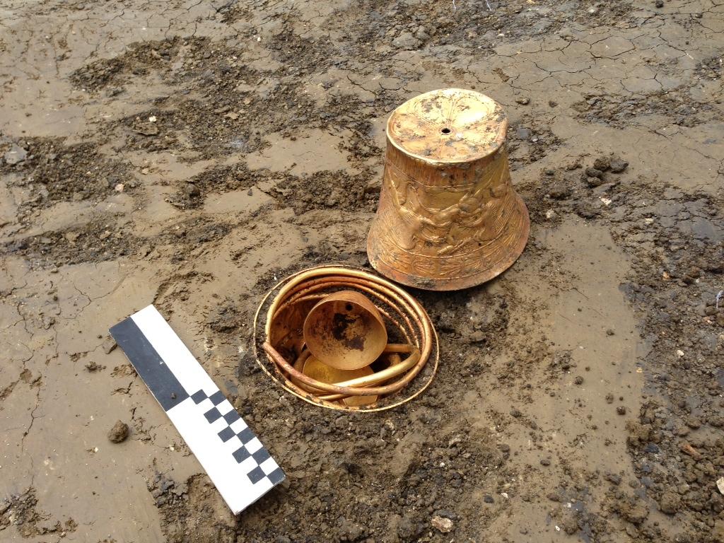 Археологи нашли в скифском кургане золото, опиум и коноплю: .