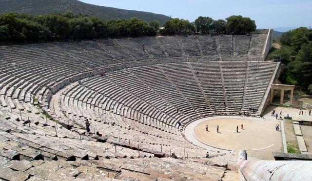 На древнегреческий театр