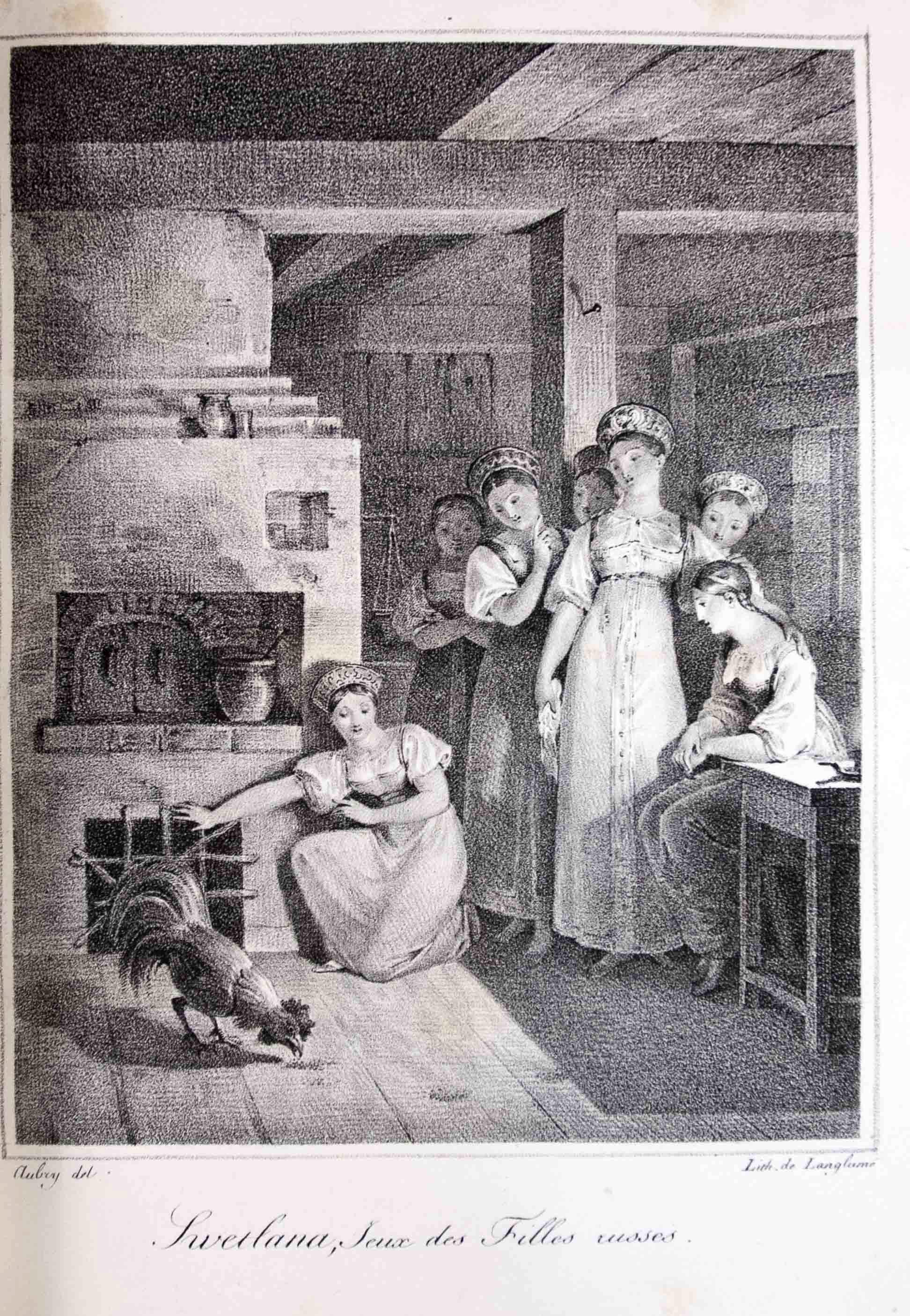 Литография из Дюпре де Сен-Мор, Э. Антология русской поэзии. 1823