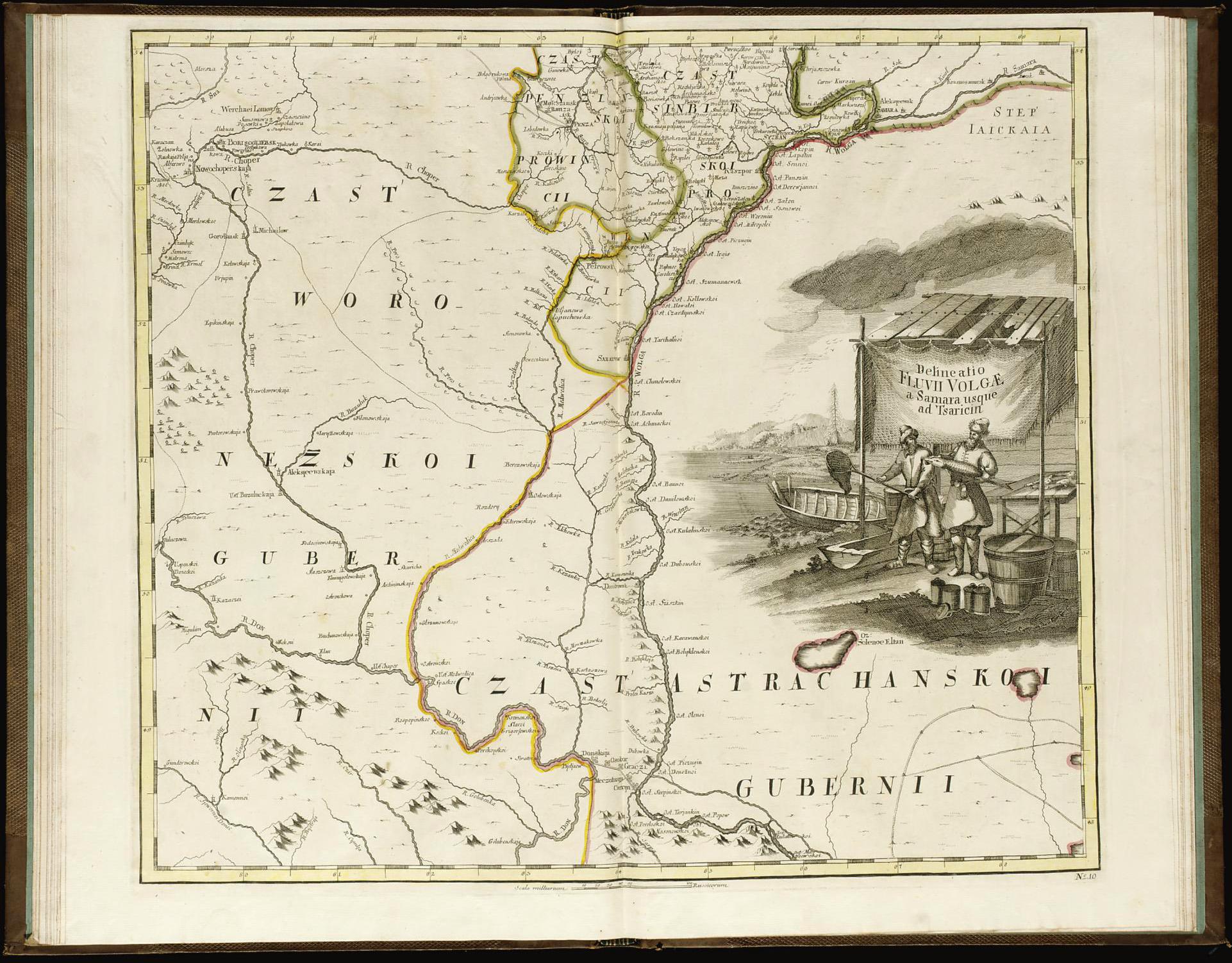 Страница атласа Российской империи, 1745