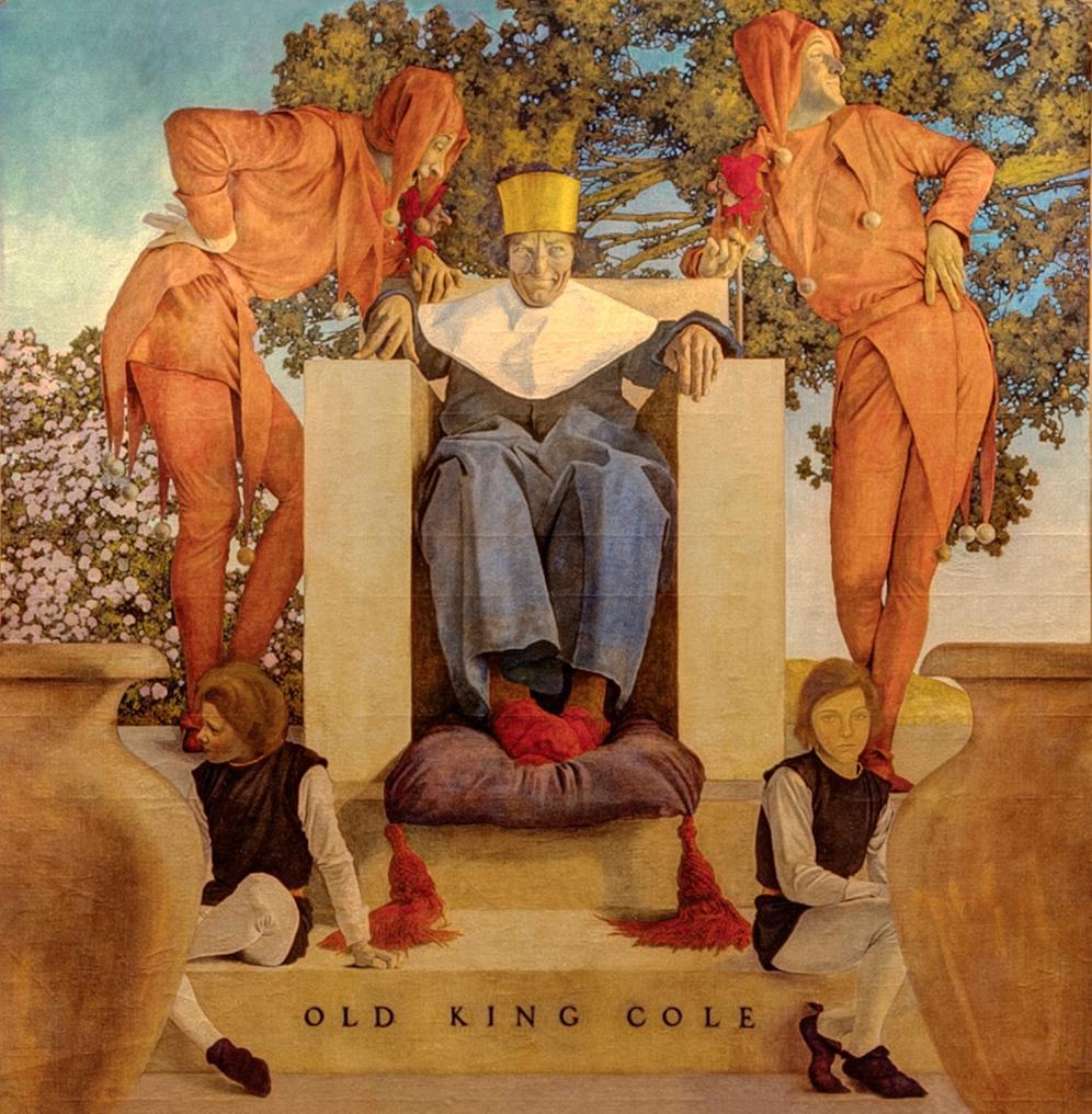 Максфилд Пэрриш (1870–1966) . «Старый король Коул» (1906). Фрагмент
