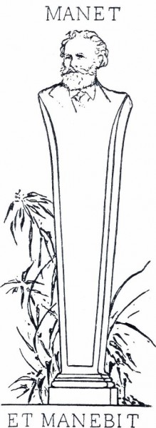10. Рис. 10. Кн. знак Эдуарда Мане, рис. Ф. Бракемона