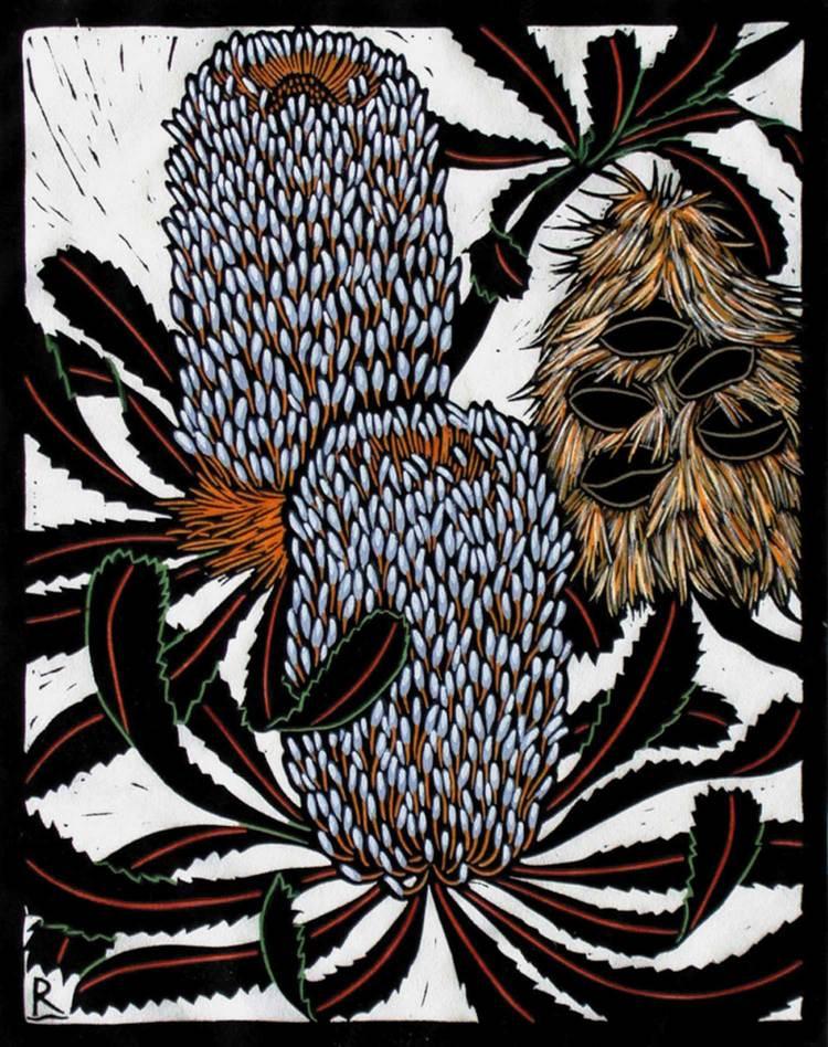 banksia-serrata-linocut-rachel-newling