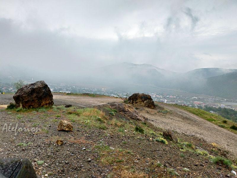 Туман и дождь незаметно переходят друг в друга.