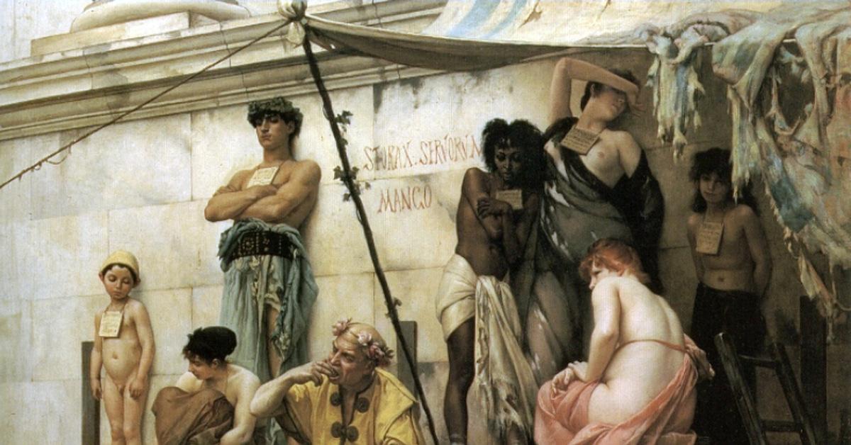 Невольничий рынок в древнем Риме