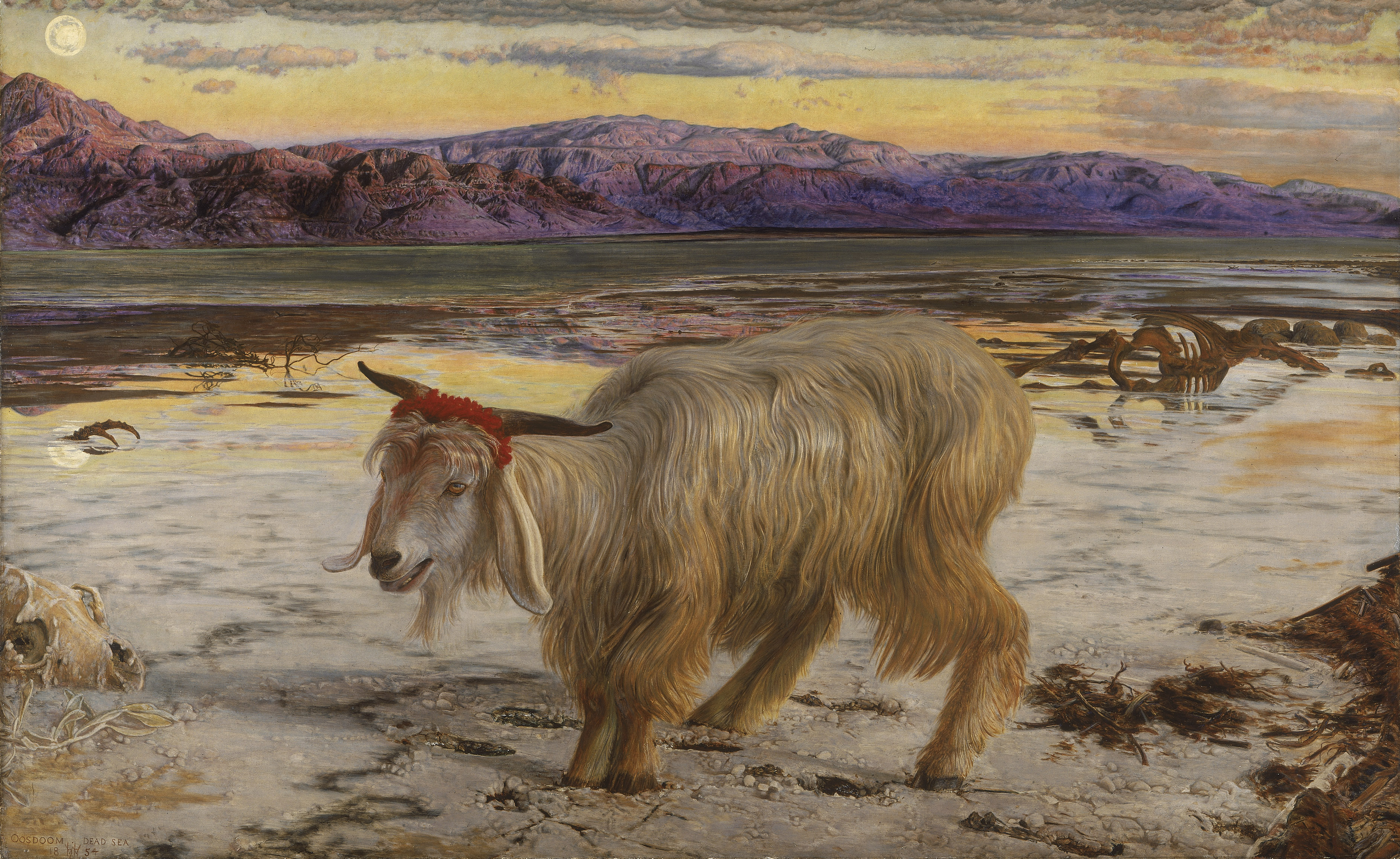William_Holman_Hunt_-_The_Scapegoat-1854