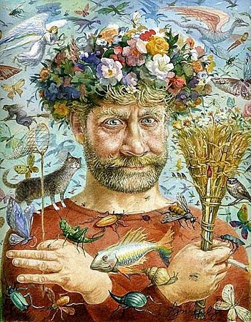 Self-portrait.-Russian-artist-Vladimir-Rumyantsev