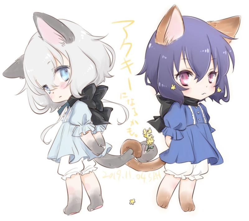 Картинки - УиХ. Кошкодевочки Konno Junko и Mizuno Ai (zombie land saga) обнялись хвостиками - musukichi (pixiv 1517187) 3680166-danbooru, twitter.com, О --f05bac6842accfee9ff6f8948d3d00a2