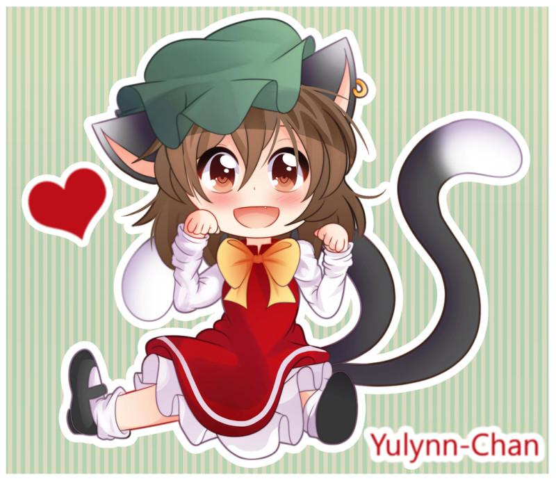 Картинки - Touhou. Чен. Сидит, лапки по кошачьи. УиХ - yulynn-chan (pixiv --) 3678808-danbooru, deviantart.com, О --3b84028213b72dc23f12b79e01cf120b