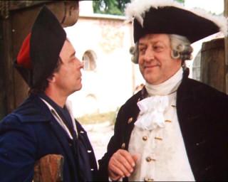The Treasures Island, 1982 (Oleg Borisov as John Silver and Vladislav Strzshelchik as Squire Trelawney)