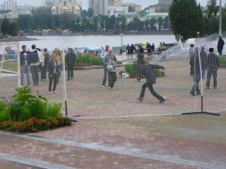 football into Ekaterinburg city exterier -- during The Day of City, August of 2010