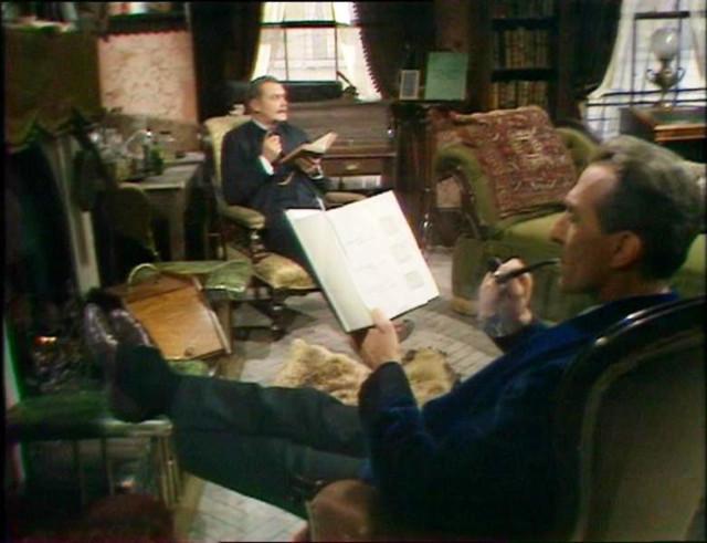 221b interior in Peter Cashing's series