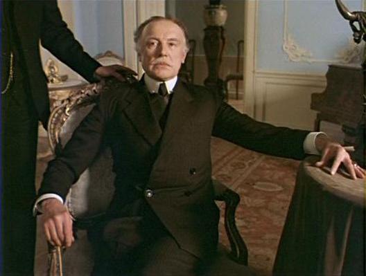 Innokenty Smoktunovsky as Prime Minister Belinger in the LenFilm Sherlock Holmes series (1986)