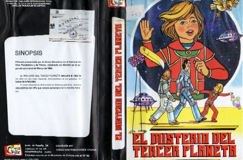 Mystery of Third Planet, a poster/cover to DVD of animation