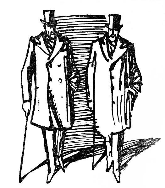 an illustration by artist Boris Vlasov in Soviet edition of The Memories of Sherlock Holmes, 1980