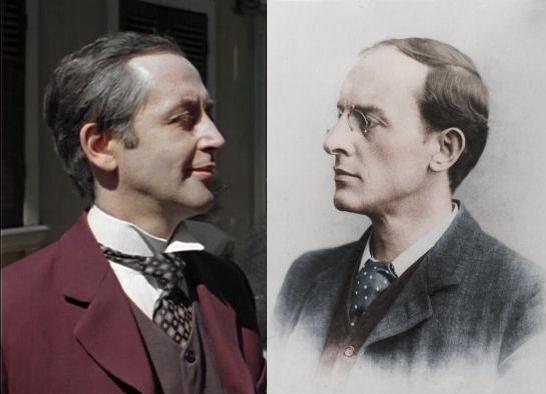 Vasily Livanov as Sherlock Holmes vs artist Walter Paget