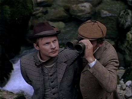 Vasily Livanov and Vitaly Solomin as Russian Sherlock Holmes and Doctor Watson