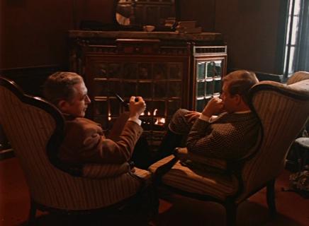 Vasily Livanov and Vitaly Solomin as Sherlock Holmes and Doctor Watson
