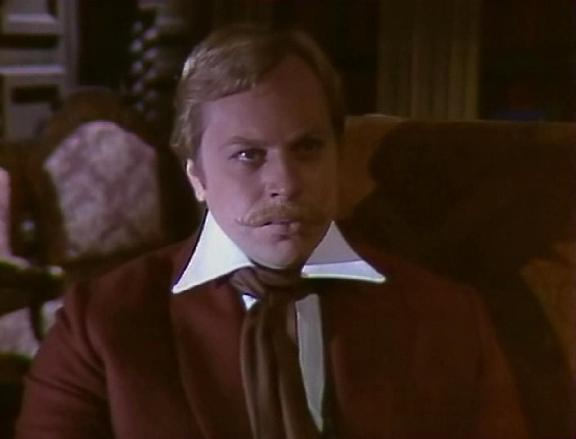 Yuri Bogatyryov as friend of Dupin in Soviet TV adaptation of Edgar Poe's story (1982)