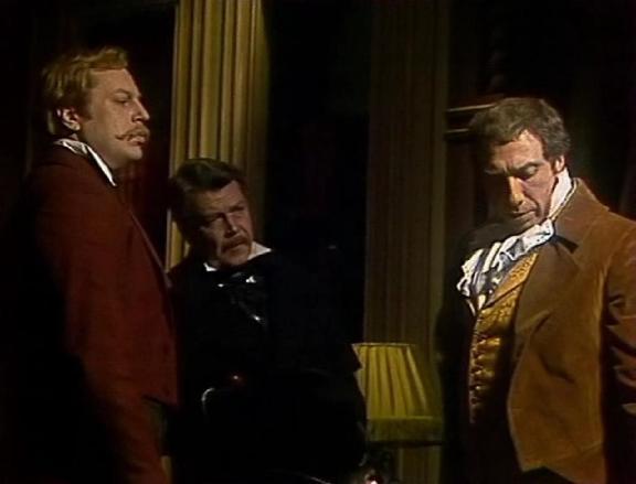 Yuri Bogatyryov, Vsevolod Larionon and Sergei Yurskiy  in Soviet TV adaptation of Edgar Poe's story (1982)