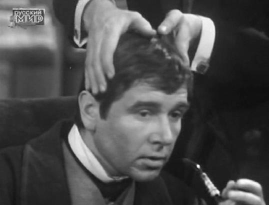 Nikolay Volkov as Sherlock Holmes in Soviet TV adaptation