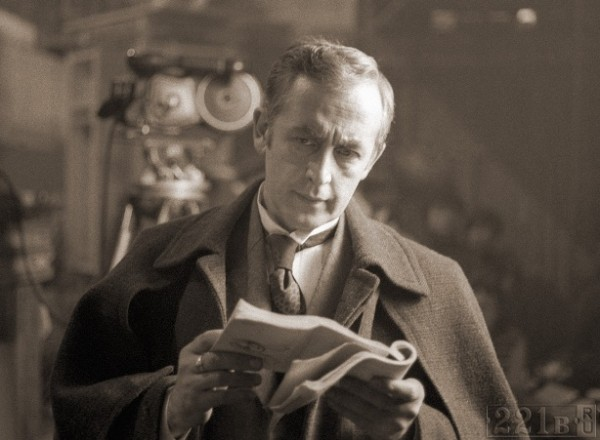 Vasily Livanov as Sherlock Holmes (read the script)
