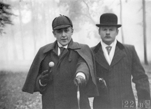 Vasily Livanov as Sherlock Holmes and Vitaly Solomin as Doctor Watson