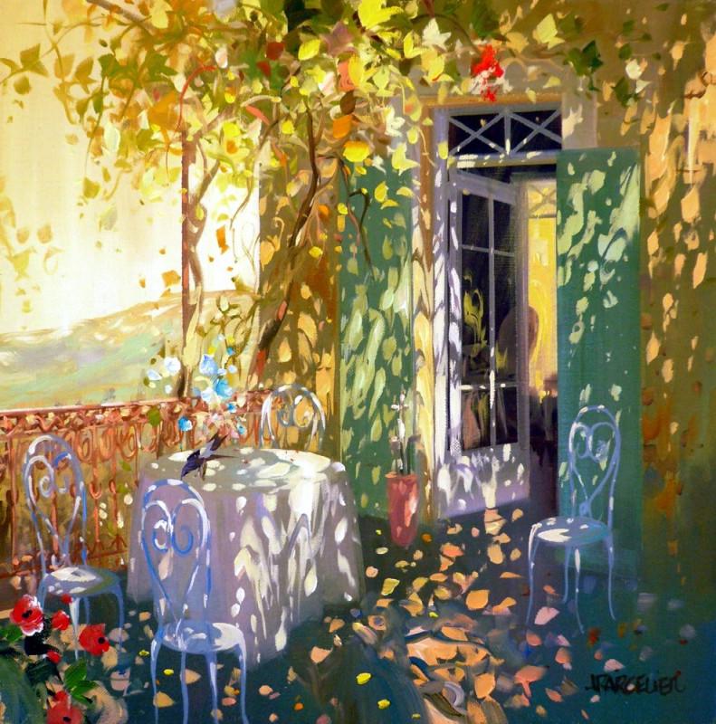 Laurent PARCELIER - La pie sur la table 50x50
