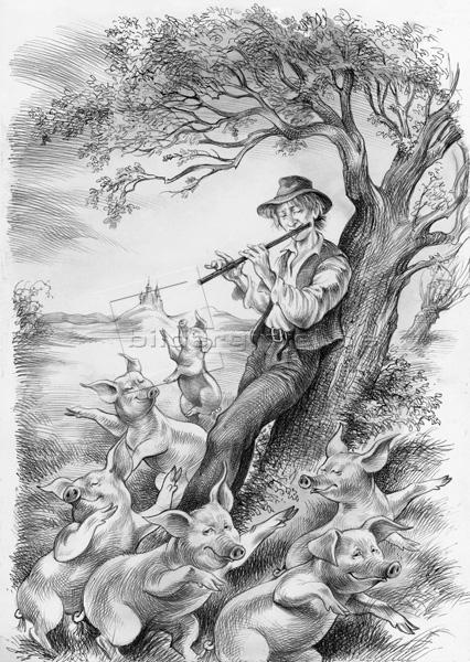 Illustration aus Märchen von Töchten, Märchen von Söhnen