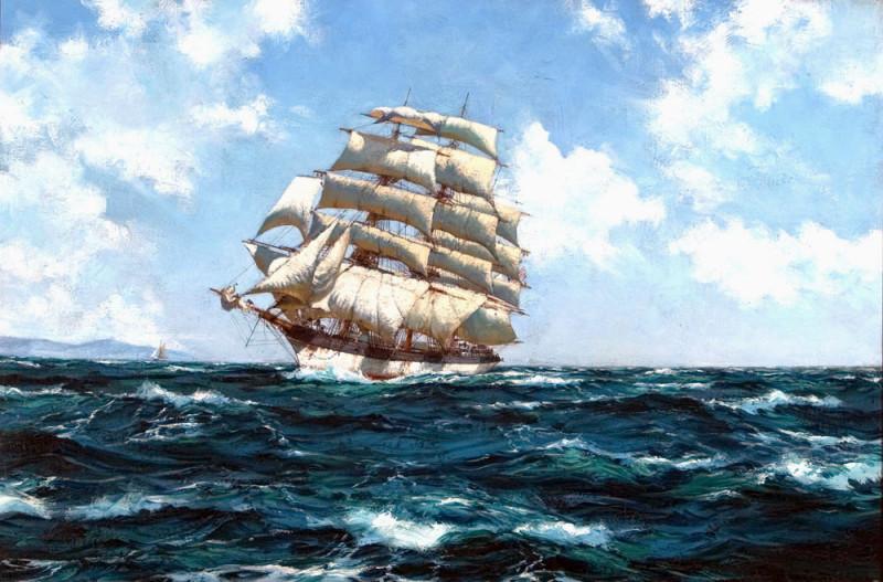 American Windjammer Under Full Sail
