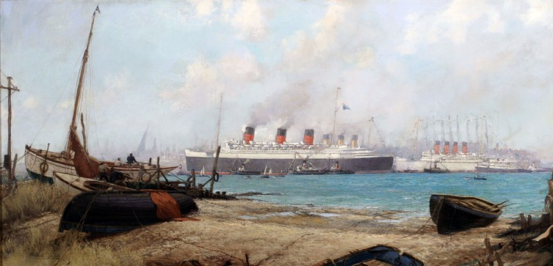 Arrival of QUEEN MARY At Southampton