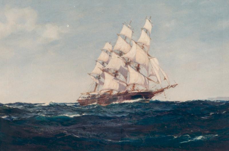 Blackball Clipper JAMES BAINES Off Cape St. Vincent