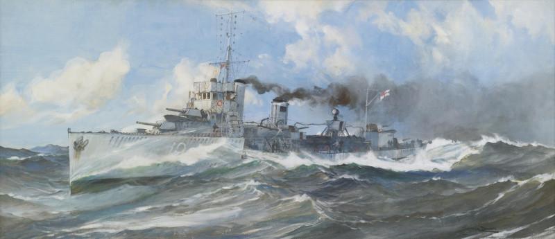 British Frigate on Patrol