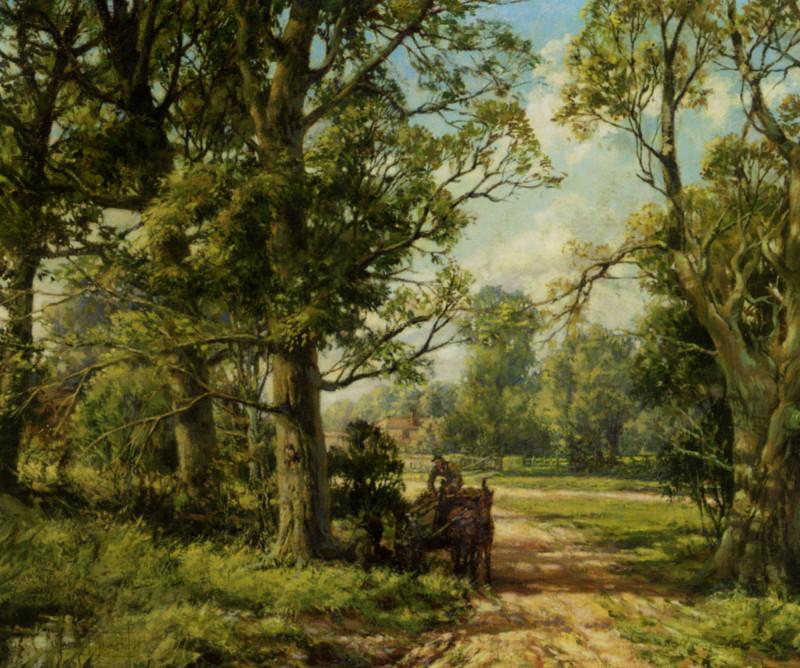 Dawson_Montague_Hampshire_Lane_Oil_on_Canvas