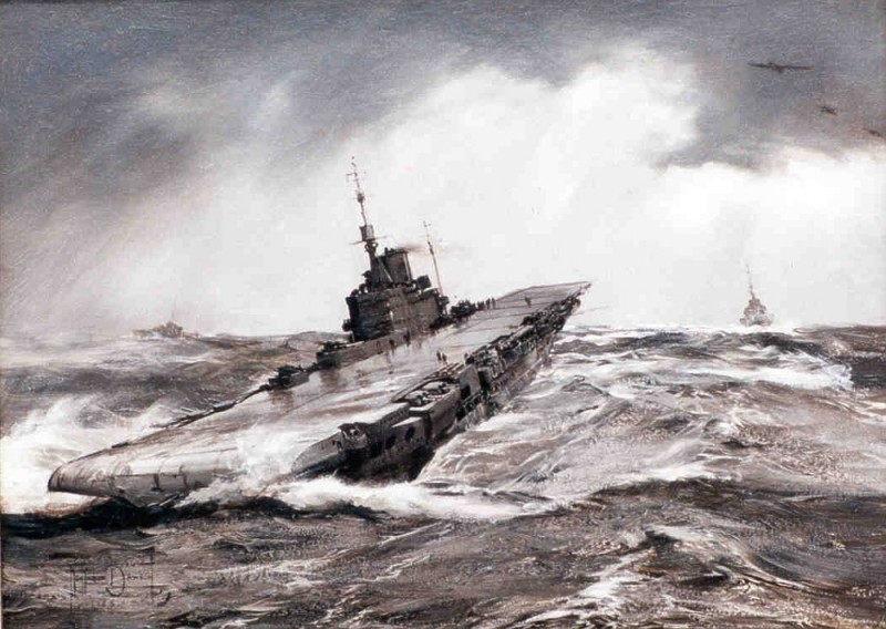 Landing On in Difficult Conditions, The ARK ROYAL
