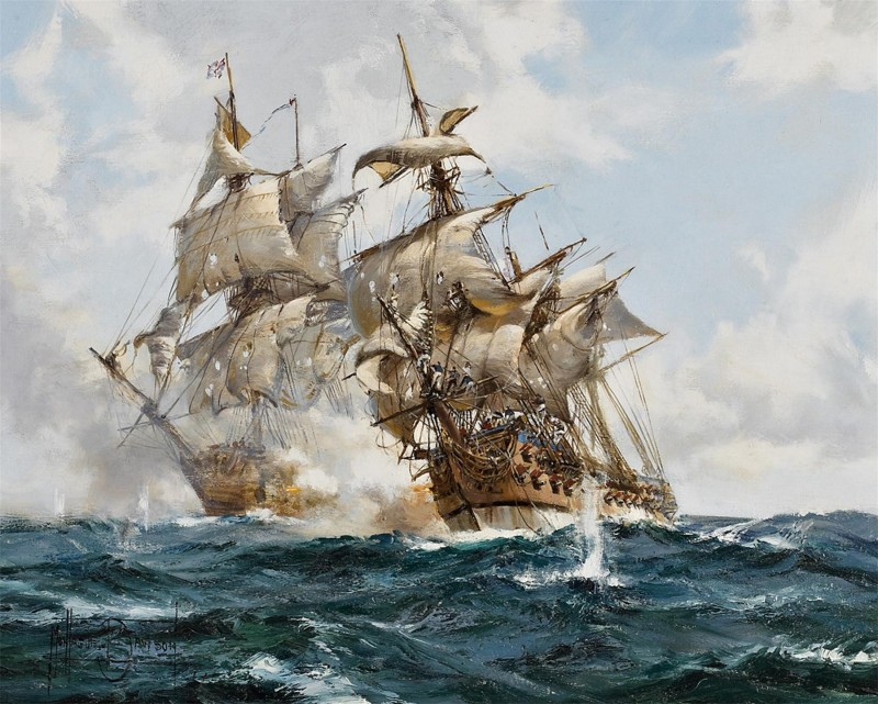 The Battle between H.M.S. Nottingham and the French Ship Mars