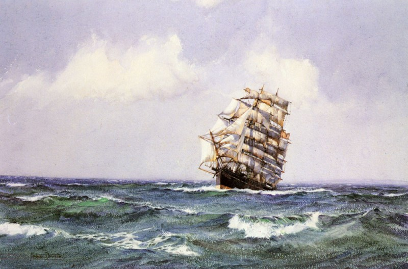 The Ship Lightening making Landfall in Summer Weather