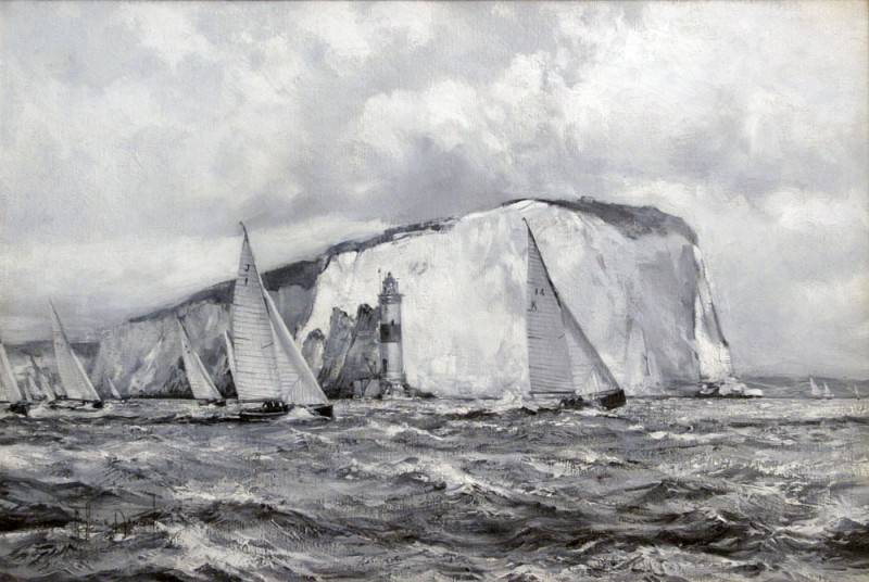 Yacht Race Off the Needles, Isle of Wight