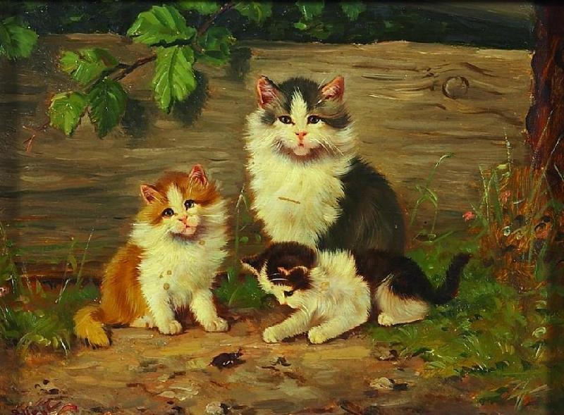 Fünf Kätzchen 1