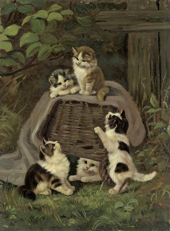 Fünf Kätzchen