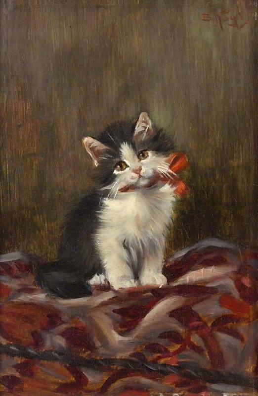 Junges Kätzchen mit Schleife