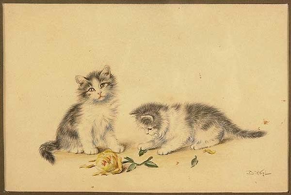 Spielende Kätzchen w
