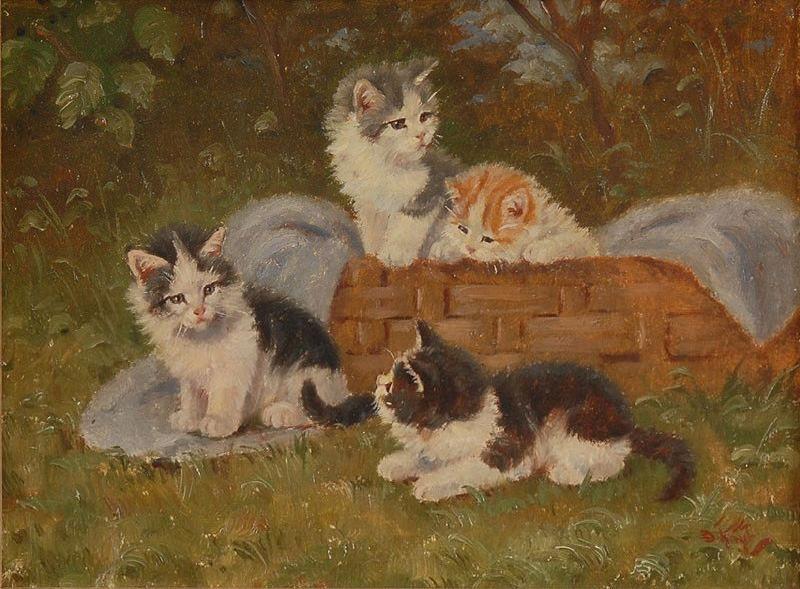 Vier junge Kätzchen