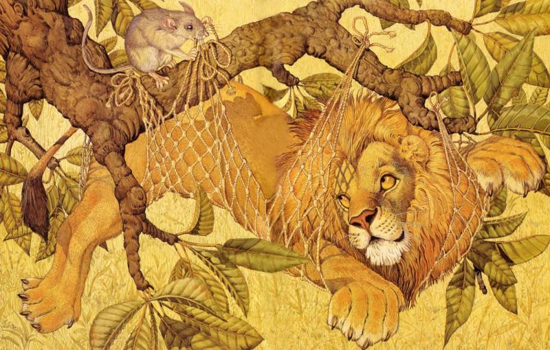 fop-(23)DonDaily-Aesop-Lion-Mouse