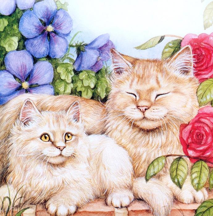 Дебби Кук и её пушистые рисунки 8
