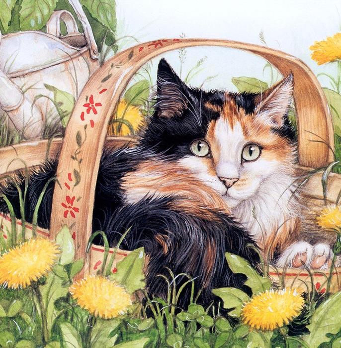 Дебби Кук и её пушистые рисунки 10