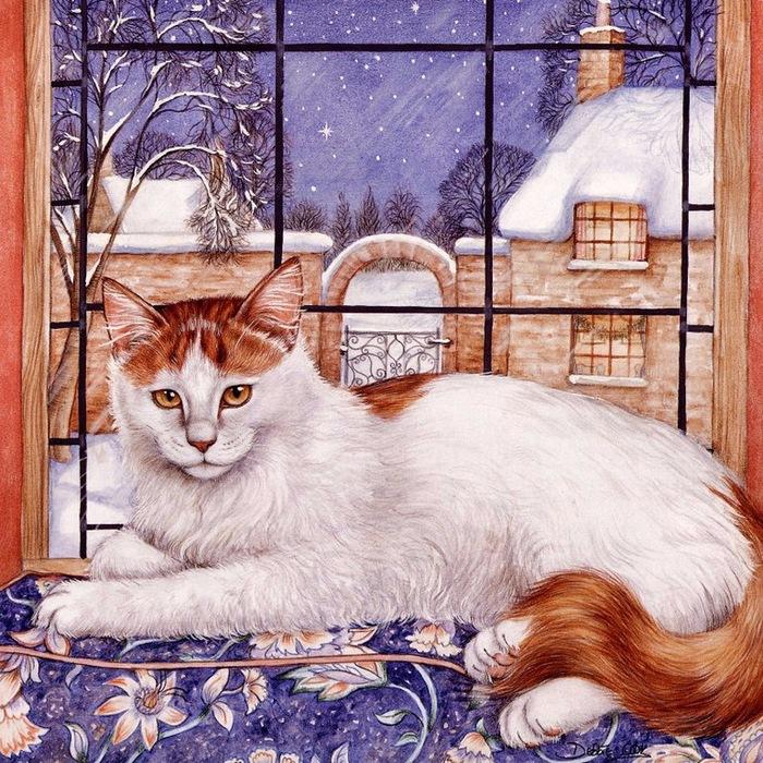 Дебби Кук и её пушистые рисунки 14