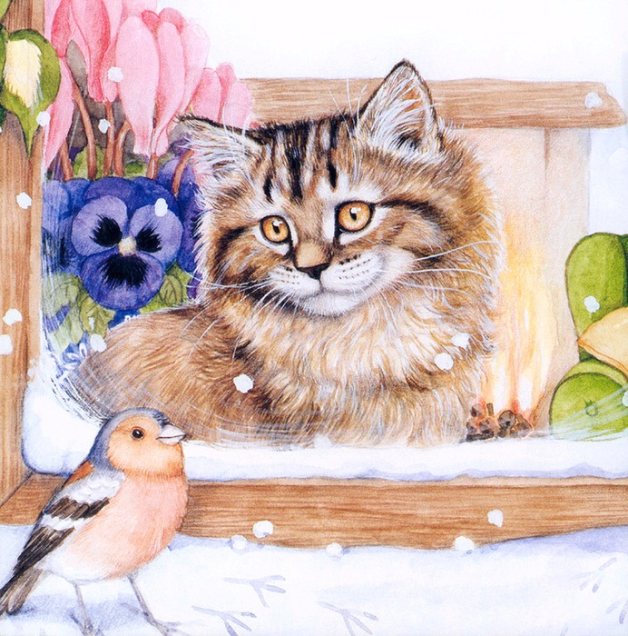 Дебби Кук и её пушистые рисунки 16